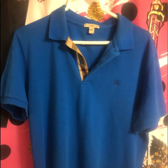Burberry Other - EUC Blue Burberry short sleeve polo shirt size 2XL